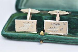 【送料無料】メンズアクセサリ― ビンテージスターリングシルバーアールデコデザインカフリンクスvintage sterling silver cufflinks with an art deco design g89