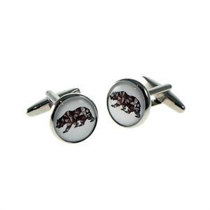 【送料無料】メンズアクセサリ― ボックス×デザインラウンドカフリンクスgeometric bear design round cufflinks presented in a cufflink box x2boc219