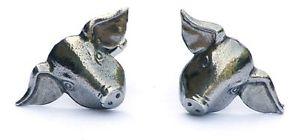 【送料無料】メンズアクセサリ― ブタカフスリンクシロメquantity discountpig cufflinks pewter hand made in uk gift boxed or pouched quantity discount
