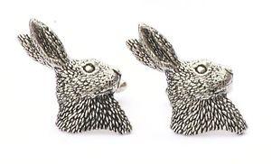 【送料無料】メンズアクセサリ― シロメヘーラーヘッドカフスリンクquantity discounthare head cufflinks pewter uk hand made gift boxed or pouched quantity discount