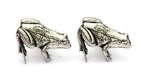 【送料無料】メンズアクセサリ― カエルヒキガエルカフリンクスピューターイギリスハンドメイドボックスfrog toad cufflinks pewter uk hand made gift boxed or pouched quantity discount