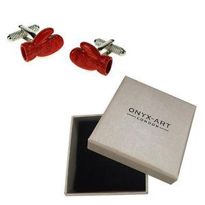 【送料無料】メンズアクセサリ― メンズボクシンググローブボクサーカフスボタンオニキスアートボックスオンmens red boxing glove boxer gloves cufflinks amp; gift box by onyx art