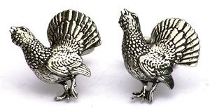 【送料無料】メンズアクセサリ― カフスリンクquantity discountcapercaillie cufflinks uk hand made gift boxed or pouched quantity discount