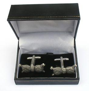 【送料無料】メンズアクセサリ― カフリンクスピューターボックスknitting needles cufflinks pewter gift boxed or pouched quantity discount