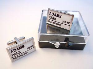 【送料無料】メンズアクセサリ― ウィカムワンダラーズメンズカフスボタンサインwycombe wanderers street road sign mens cufflinks gift