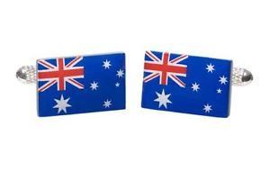 【送料無料】メンズアクセサリ― オーストラリアオニキスアートボックスオーストラリアカフリンクスaustralia australian flag cufflinks in onyx art cufflink box