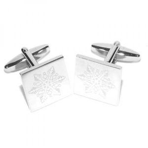 【送料無料】メンズアクセサリ― カフスボタンクリスマスengraved snowflake cufflinks christmas winter boxed x2boesf001