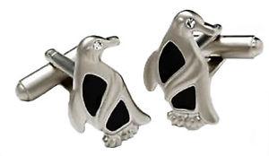 【送料無料】メンズアクセサリ― ペンギンクリスタルボックスカフリンクス penguin cufflinks with crystal eye  in gift box 7704