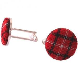 【送料無料】メンズアクセサリ― ロイヤルスチュアートタータンチェックカフスボタンスコットランドroyal stewart traditional tartan circular cufflinks made in scotland