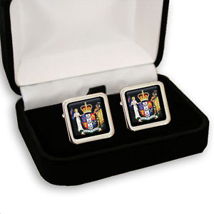 【送料無料】メンズアクセサリ― メンズカフスボタンボックスニュージーランドコート zealand coat of arms men's cufflinks gift box engraving