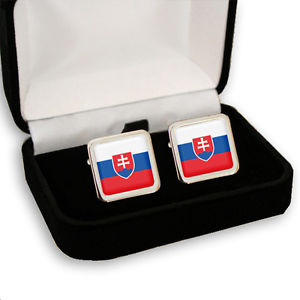 【送料無料】メンズアクセサリ― スロバキアメンズカフスボタンボックスslovakia flag mens cufflinks gift box engraving