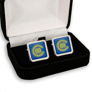 【送料無料】メンズアクセサリ― メンズカフスボタンボックスthe commonwealth flag men's cufflinks gift box engraving