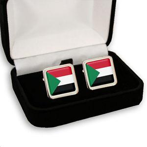 【送料無料】メンズアクセサリ― スーダンスーダンメンズカフスボタンボックスsudan sudanese flag men's cufflinks gift box engraving