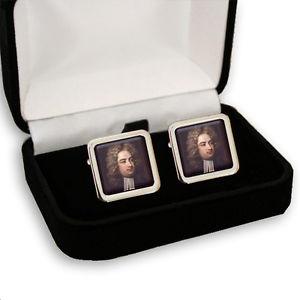 【送料無料】メンズアクセサリ― ジョナサンスウィフトアングロアイルランドメンズカフスボタンボックスjonathan swift angloirish writer amp; satirist men's cufflinks gift box engraving