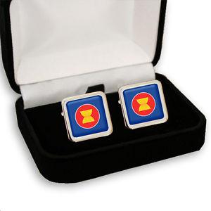 【送料無料】メンズアクセサリ― アジアアセアンメンズカフスボタンassociation of southeast asia asean mens cufflinks gift engraving