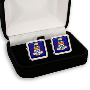 【送料無料】メンズアクセサリ― メンズカフスボタンボックスケイマンコートcayman islands coat of arms men's cufflinks gift box engraving