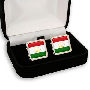 【送料無料】メンズアクセサリ― タジキスタンメンズカフスボタンボックスtajikistan flag men's cufflinks gift box engraving