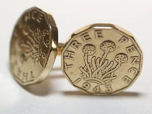 【送料無料】メンズアクセサリ― 19433ペンス3d75カフスリンク 751943コインカフスリンク1943 threepence 3d 75th birthday cufflinks 75th birthday 1943 coin cufflinks