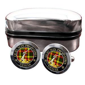【送料無料】メンズアクセサリ― デュワースコットランドバッジカフスボタンボックスdewar scottish clan crest badge cufflinks amp; box