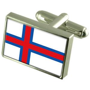 【送料無料】メンズアクセサリ― スターリングフラグカフスリンクthe fares sterling silver flag cufflinks in engraved personalised box