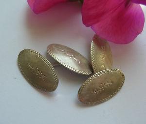 送料無料 メンズアクセサリ― ビンテージソリッドシルバーオーバルチェーンカフスボタン listingrare amp; unusual vintage solid silver oval chain cufflinkshand engravedvgck8nO0wPX