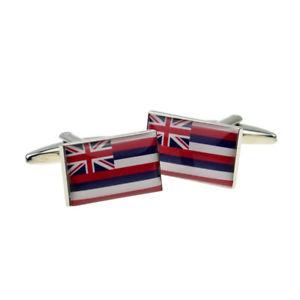 【送料無料】メンズアクセサリ― カフスリンクx2bocfus011ハワイカフスリンクhawaii us state flag cufflinks presented in a cufflink box x2bocfus011