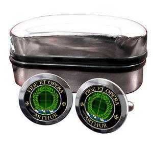 【送料無料】メンズアクセサリ― アーサースコットランドカフリンクスボックスarthur scottish clan crest cufflinks amp; box