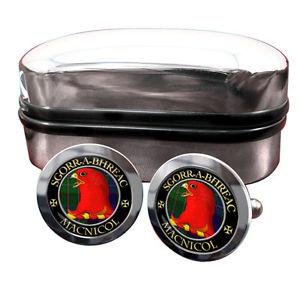 【送料無料】メンズアクセサリ― スコットランドカフリンクスボックスmacnicol scottish clan crest cufflinks amp; box