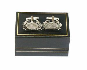 【送料無料】メンズアクセサリ― ワタリガニピューターカフスボタンサインcancer the crab pewter cufflinks ideal mens birth sign gift boxed
