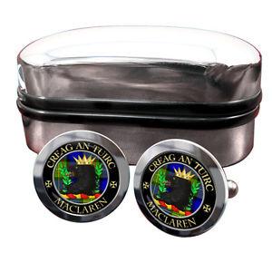 【送料無料】メンズアクセサリ― スコットランドカフリンクスボックスmaclaren scottish clan crest cufflinks amp; box