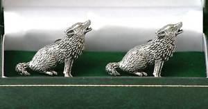 【送料無料】メンズアクセサリ― オオカミシロメカフスリンクprarieニューwolf design pewter cufflinks prarie dog boxed