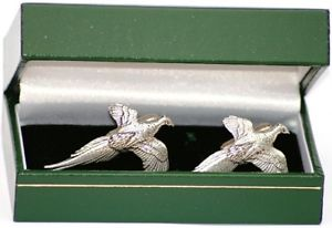 【送料無料】メンズアクセサリ― キジカフスリンクシロメfree postagepheasant cufflinks english pewter shooting gift luxury boxed free postage