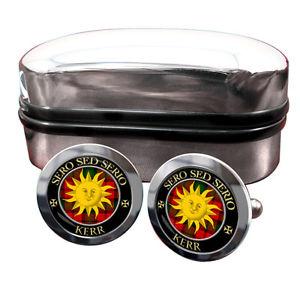 【送料無料】メンズアクセサリ― スコットランドカフリンクスボックスkerr scottish clan crest cufflinks amp; box