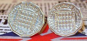 【送料無料】メンズアクセサリ― 19673ペンス3dコインカフスリンクboxed 1967 threepence 3d coin cufflinks a birthday anniversary wedding gift
