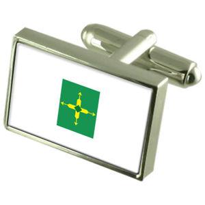 【送料無料】メンズアクセサリ― ボックスカフリンクスfederal district sterling silver flag cufflinks in engraved personalised box