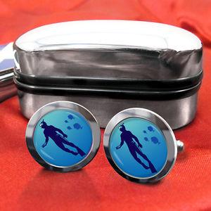 【送料無料】メンズアクセサリ― スキューバーダイビングダイビングプールカフスボタンメンズスイムscuba diving dive swimming swim cufflinks mens gift