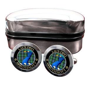 【送料無料】メンズアクセサリ― スコットランドバッジカフスボタンボックスarbuthnott scottish clan crest badge cufflinks amp; box