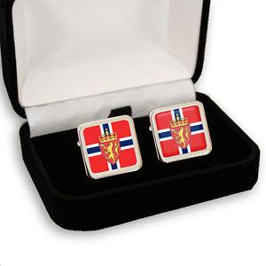 【送料無料】メンズアクセサリ― ノルウェーメンズカフスボタンノルウェーコートnorway norwegian flag coat of arms mens cufflinks gift engraving
