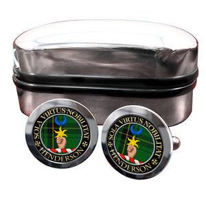 【送料無料】メンズアクセサリ― ヘンダーソンスコットランドカフリンクスボックスhenderson scottish clan crest cufflinks amp; box