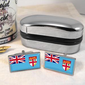 【送料無料】メンズアクセサリ― フィジーカフスボタンボックスfiji flag cufflinks amp; box
