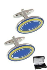 【送料無料】メンズアクセサリ― カフロンドンカフスボタンボックスウェディングcollar and cuffs london cufflinks for men with gift box wedding blue yellow oval