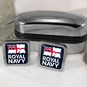 【送料無料】メンズアクセサリ― ロイヤルネイビーカフスボタンボックスroyal navy cufflinks amp; box