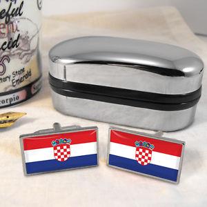【送料無料】メンズアクセサリ― クロアチアカフスボタンボックスcroatia flag cufflinks amp; box