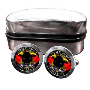 【送料無料】メンズアクセサリ― スコットランドバッジカフスボタンアンプmacleod of macleod scottish clan crest badge cufflinks amp; box
