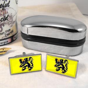 【送料無料】メンズアクセサリ― フランダースフラグカフスボタンボックスflanders flag cufflinks amp; box