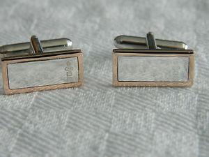 【送料無料】メンズアクセサリ― スターリングシルバーウェールズカフスボタンclogau sterling silver amp; 9ct welsh gold hallmark cufflinks rrp 31000