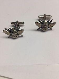 【送料無料】メンズアクセサリ― ピューターカフリンクスbee ppa34 fine english pewter cufflinks