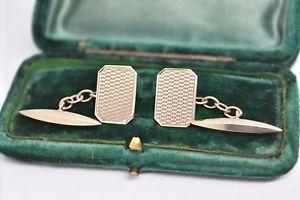 【送料無料】メンズアクセサリ― ヴィンテージゴールドアールデコパターンカフリンクスvintage 9ct gold art deco cufflinks with a patterned design 365g b905