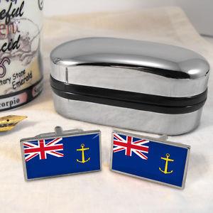 【送料無料】メンズアクセサリ― フラグカフスボタンボックスroyal fleet auxiliary flag cufflinks amp; box