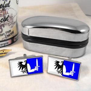 【送料無料】メンズアクセサリ― フラグカフスボタンボックスconnacht flag cufflinks amp; box